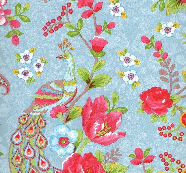 Flowers in the Mix Light Blue 313051 - Seinäruusu - Verkkokauppa