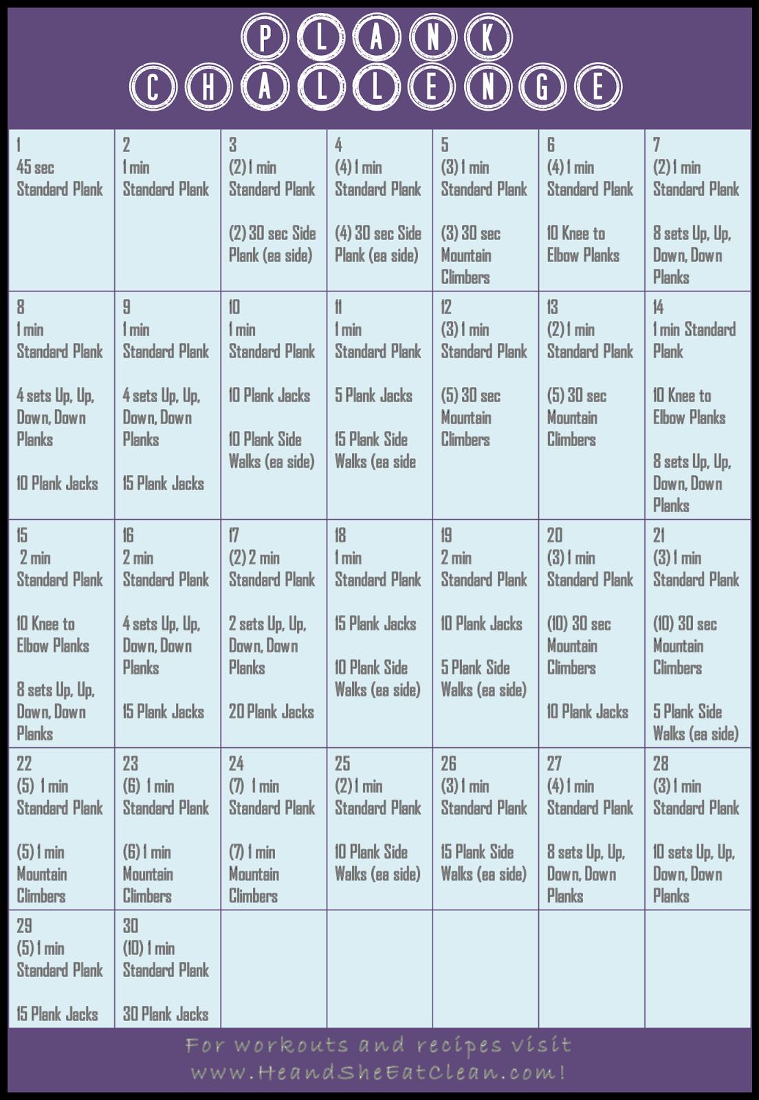 30-Day Plank Challenge | Best Plank challenge ideas