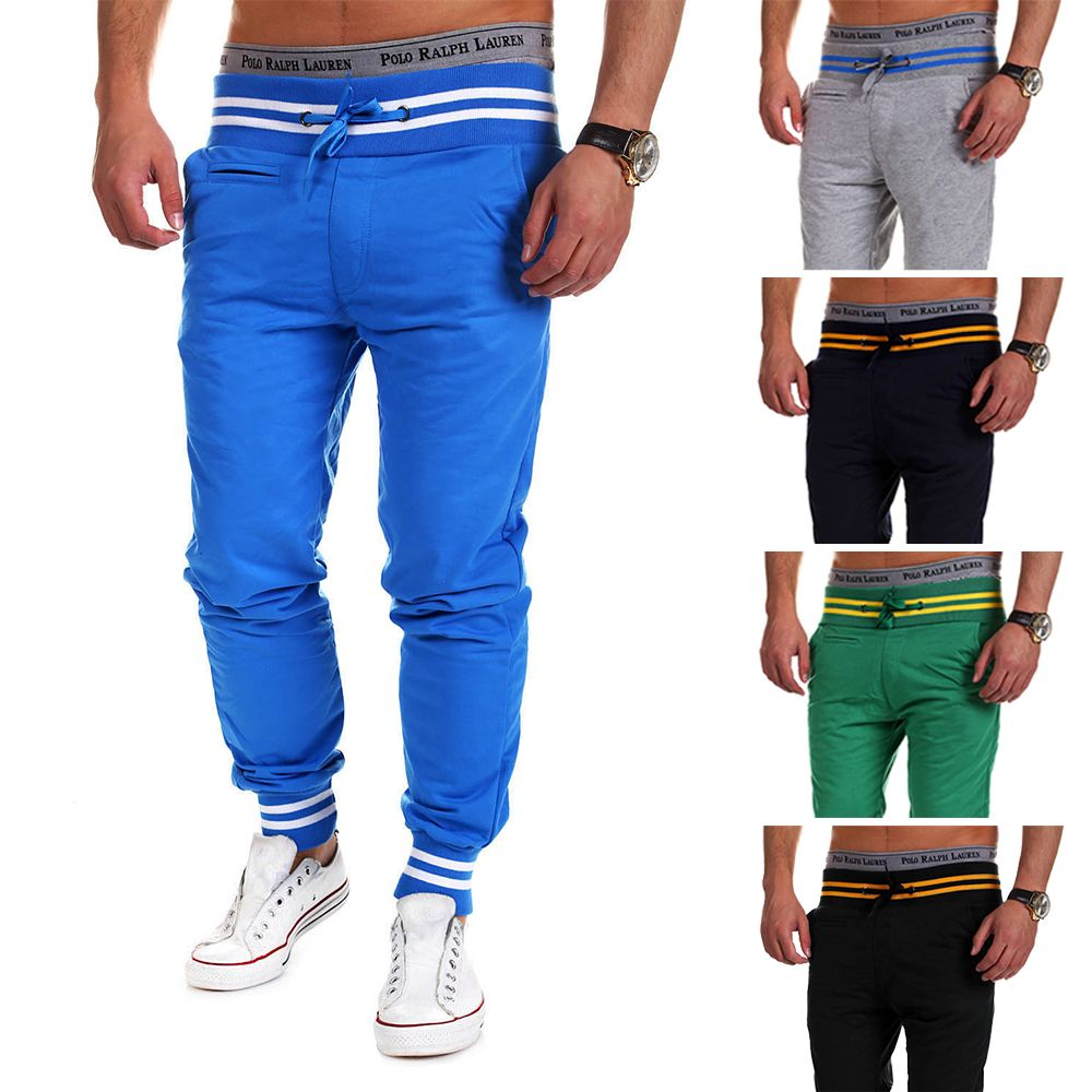 casual pants men brand clothing high quality summer autumn long