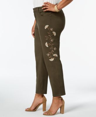 518a954c489 Charter Club Plus Size Tummy-Control Embroidered Jeans
