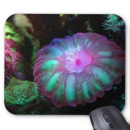 Glowing Undersea Coral Mouse Pad