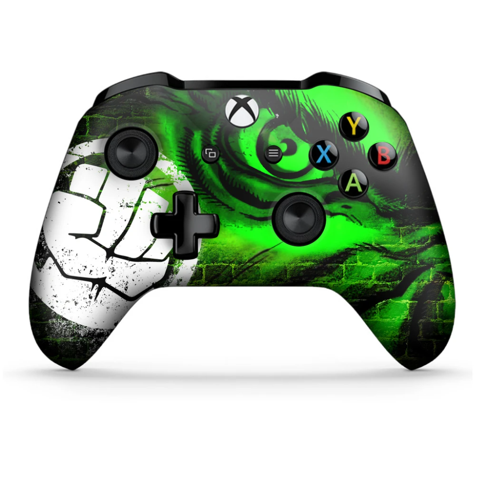 Wireless Xbox One S Custom Regular Modded Controller With 3 5 Jack Avengers Hulk In 2020 Xbox Controller Xbox Xbox One S
