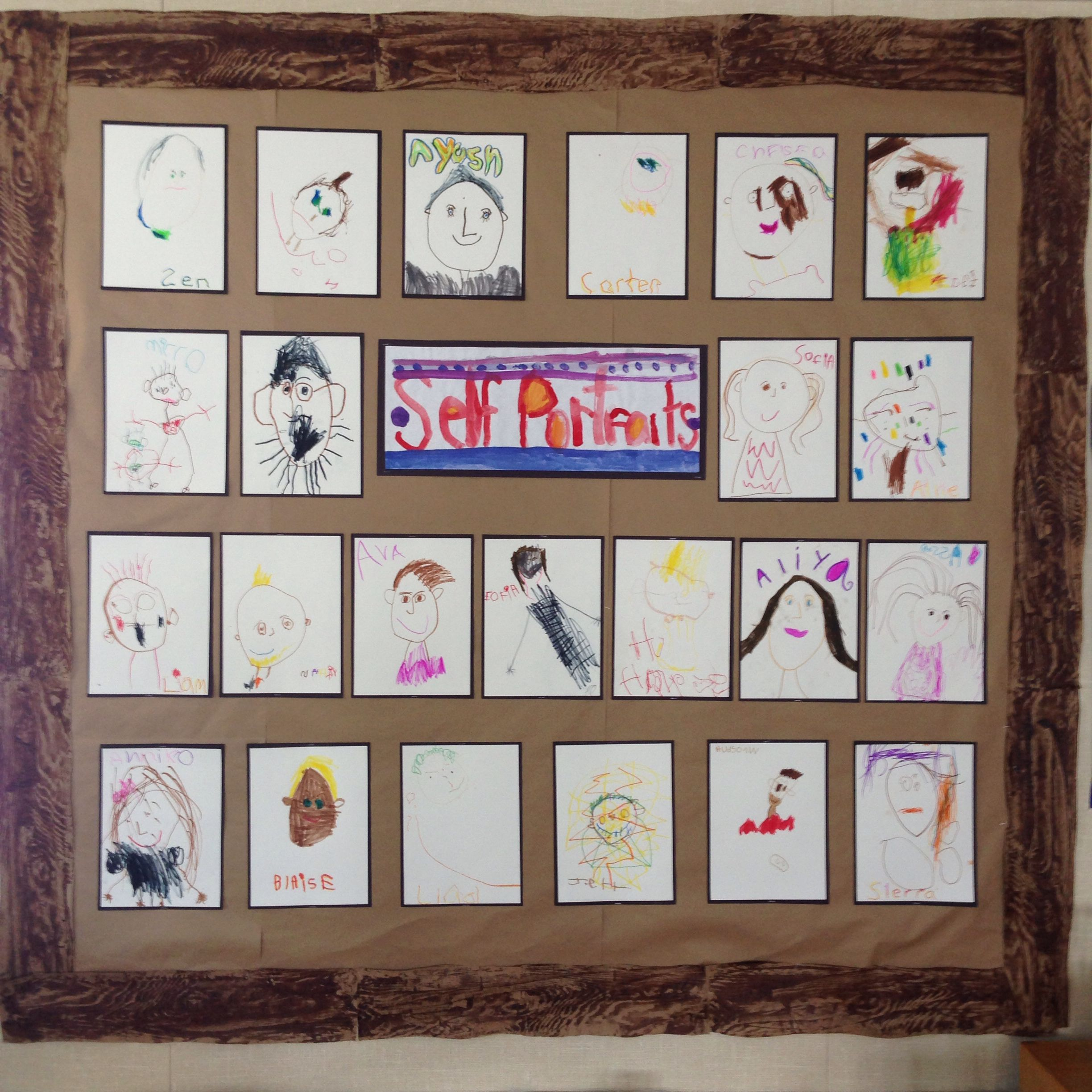 36 year olds self portrait display kids art projects