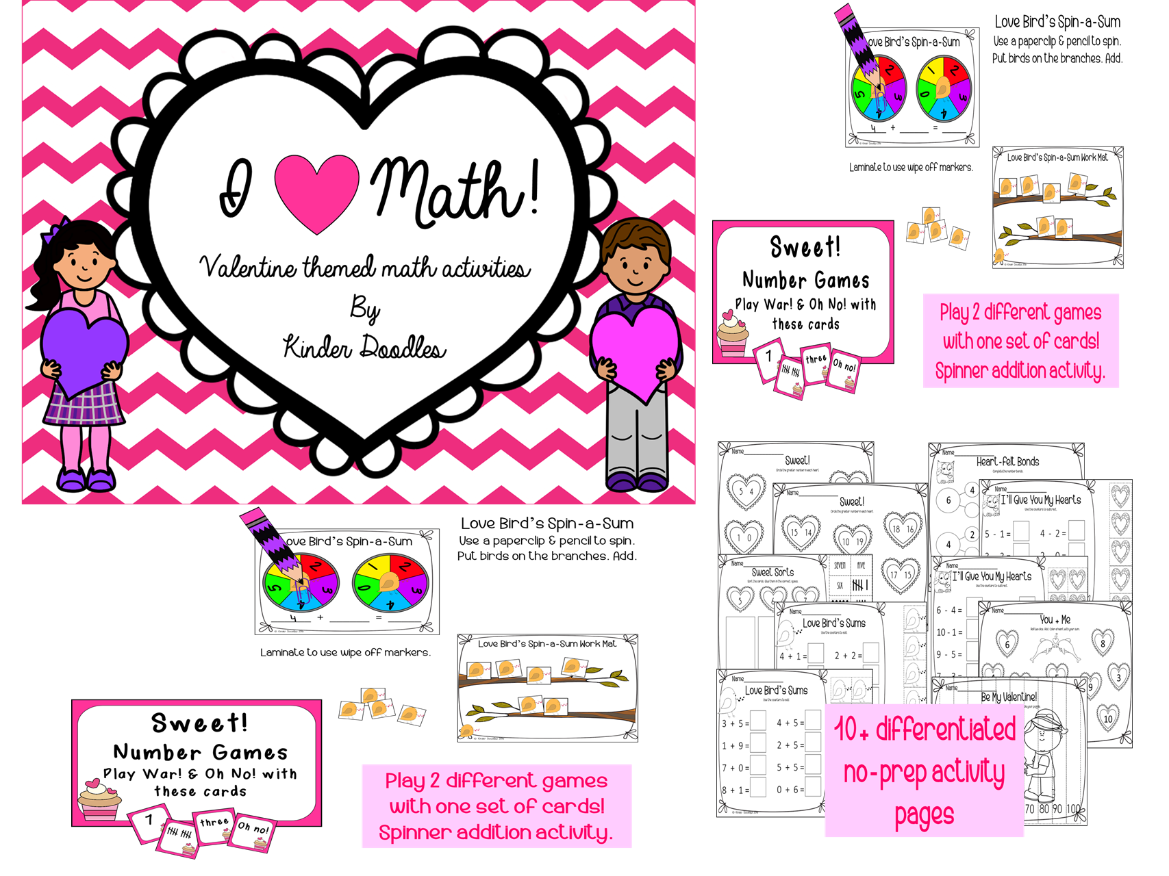 I Love Math Centers Amp No Prep Pages