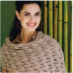 Vogue Voyager Lace Stole Free Knitting Pattern (requires free login)