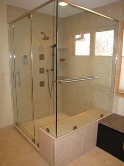 Modern Bathroom Remodel, clean lines, custom cabinetry