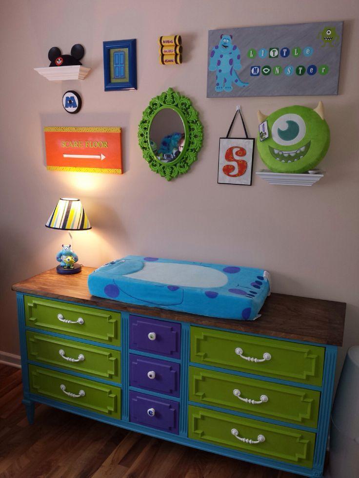 Green Baby Boy Nursery: Monster+inc+theme+bedroom