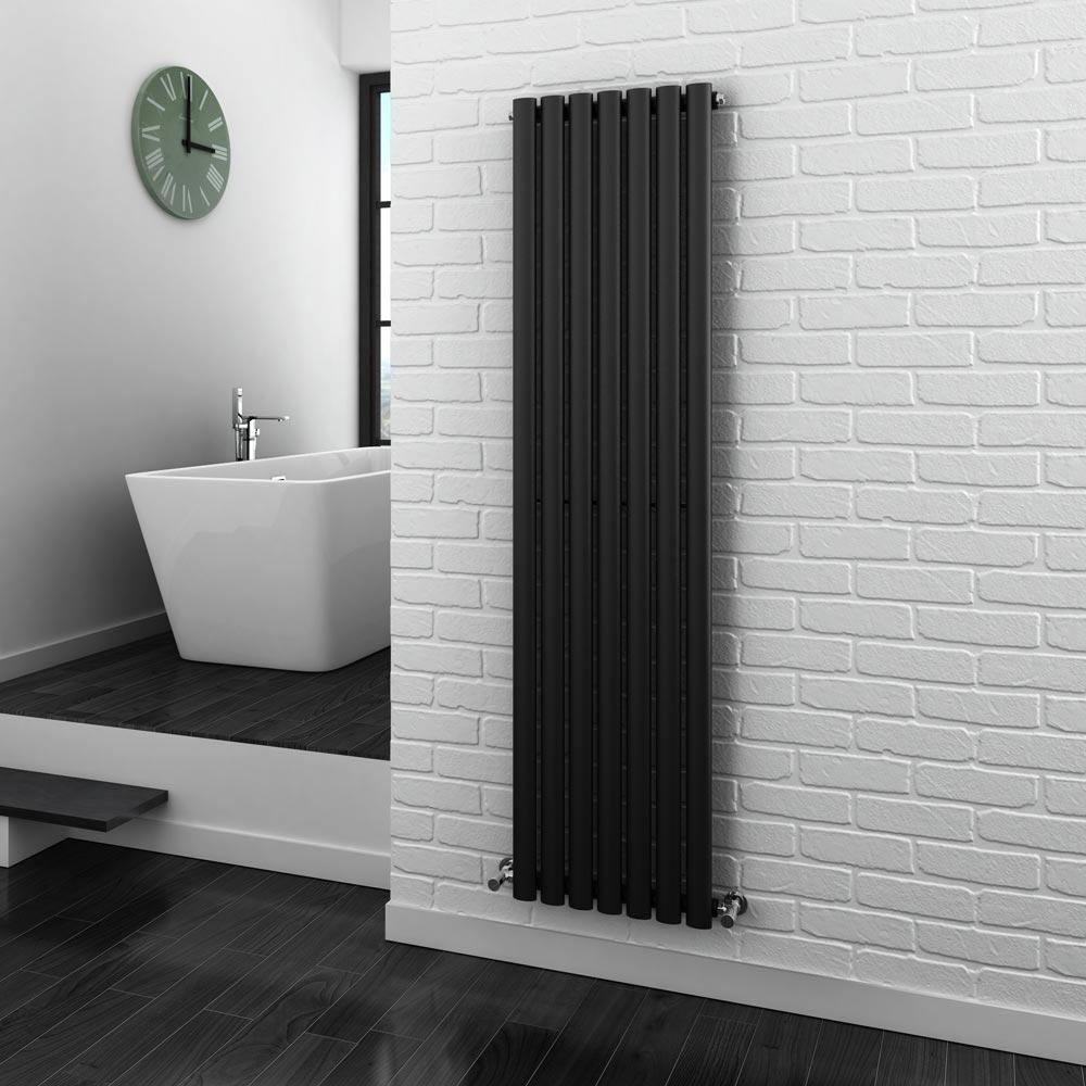 metro anthracite vertical radiator  single panel design