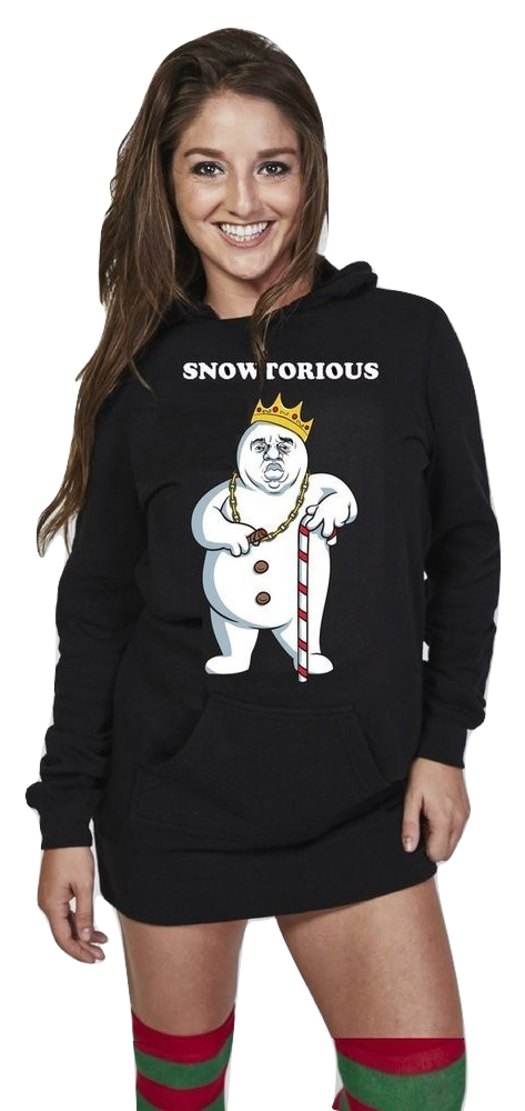 Must have this Snowtorious ™ - Hoodie Dress Christmas Sweater Dress 297b3733952b