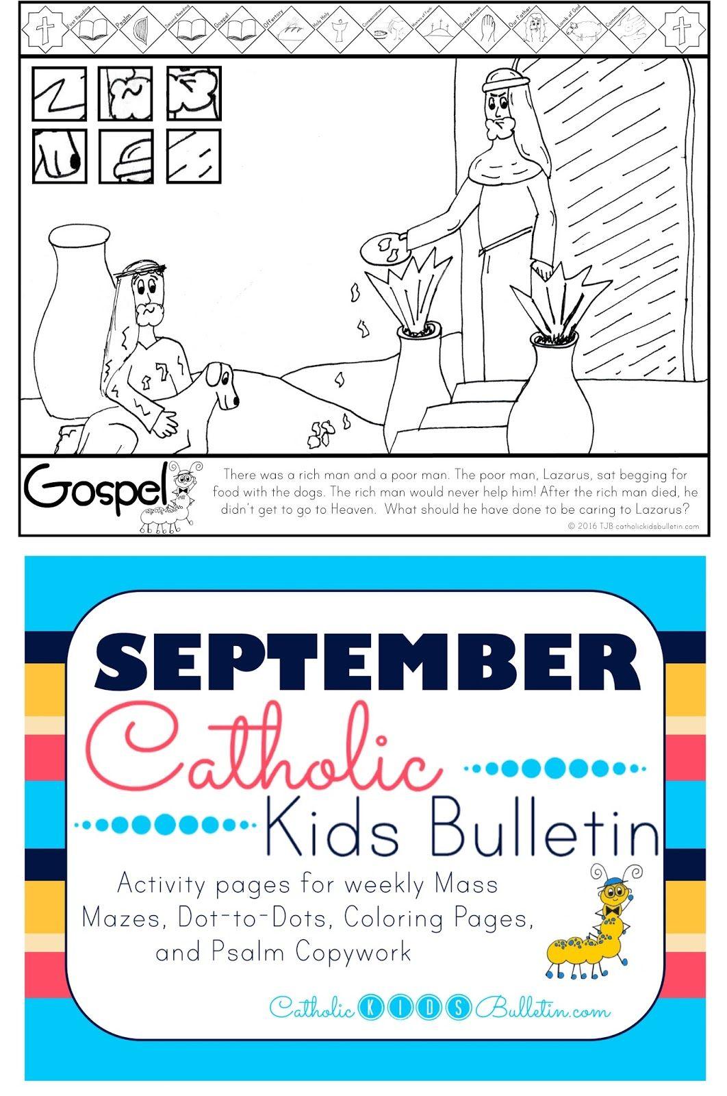 Luke 16 19 31 Lazarus The Beggar Coloring Page Catholic Kids Bulletin