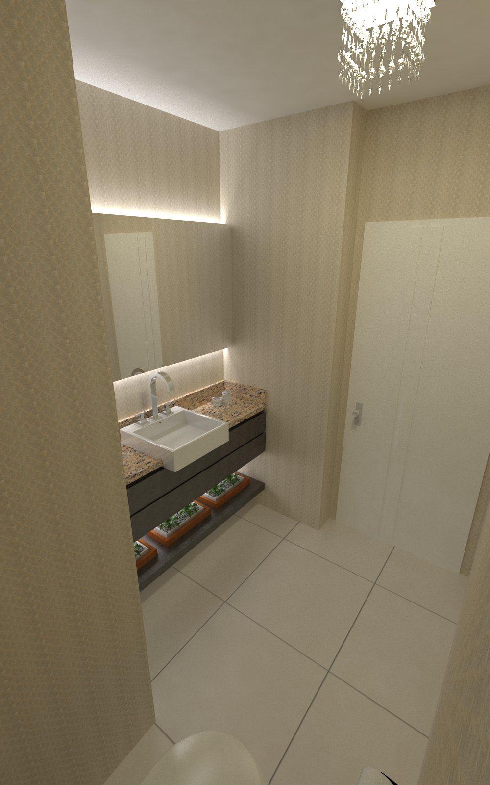 Lavabo - Apartamento Residencial de um Casal com Dois Filhos
