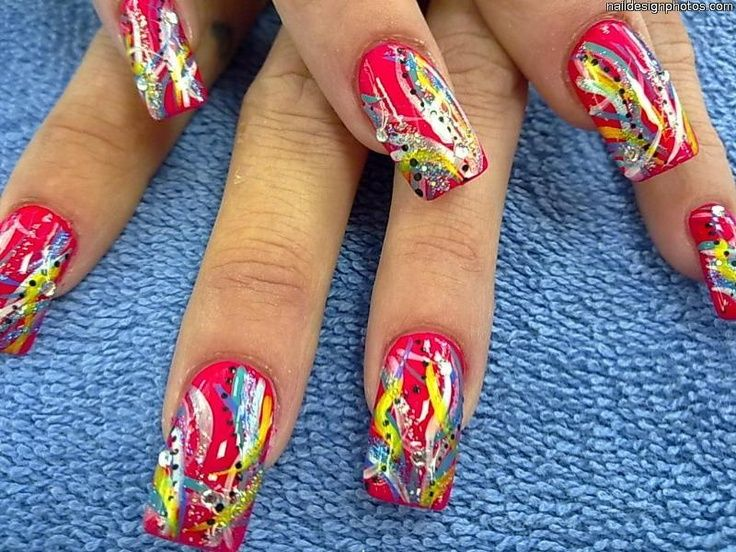 Colorful Nail Designs 4g 736552 Accesories Pinterest