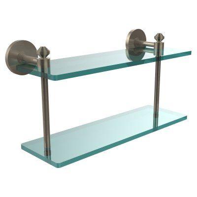 Allied Brass South Beach Two Tiered Glass Shelf - SB-2/16-ABR