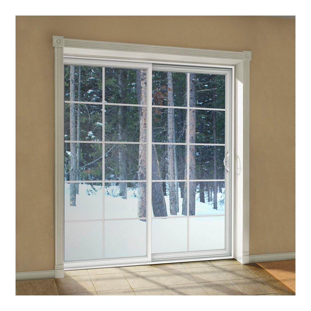 Jeld Wen 72 In X 80 In V 2500 Desert Sand Vinyl Right Hand 10 Lite Sliding Patio Door Thdjw181500194 The Home Depot Vinyl Sliding Patio Door Sliding Patio Doors Patio Doors