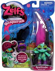 The #Zelfs - #Masquerade - #Spellinda Each style of Zelf has a unique personality and power mark and comes with hair-accessories and a comb to kleep those wayward locks in line.