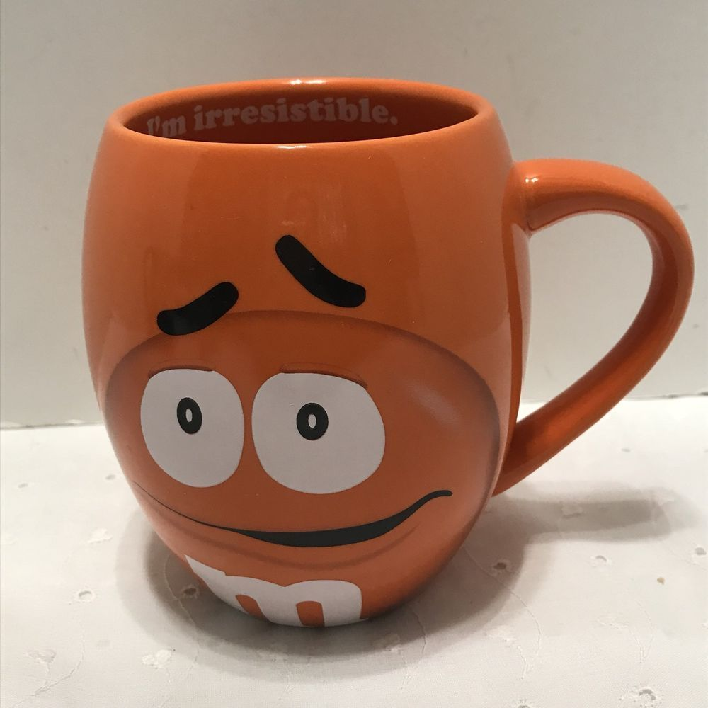 M Orange Oversized 20 Ounce Coffee Mug Cup From Mars World 2017 Ebay