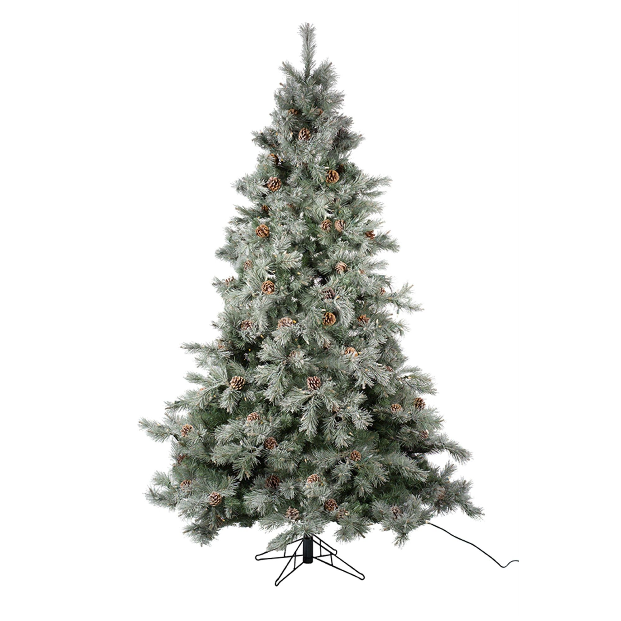7 5 Pre Lit Frosted Pine Cone Artificial Christmas Tree
