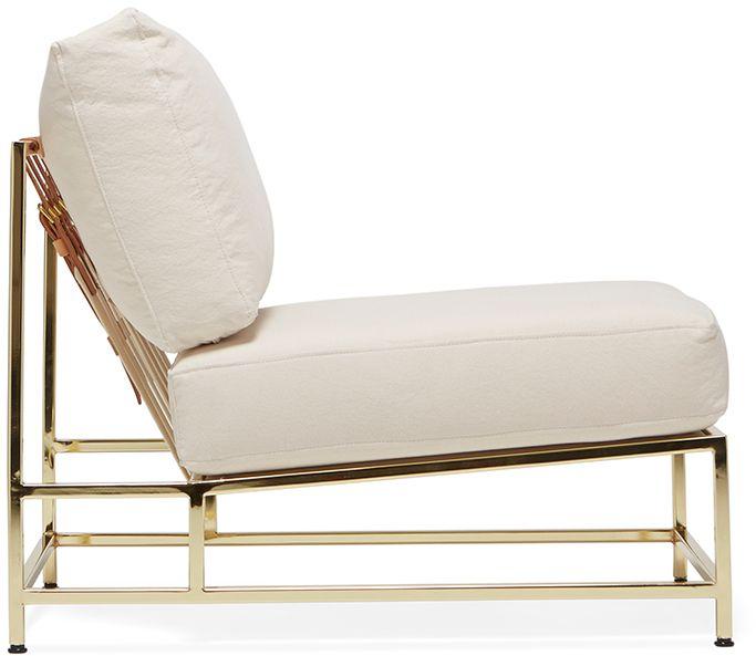 Inheritance Chair - Natural Canvas & Polished Brass