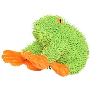 Mighty Microfiber Frog Durable Dog Toy Mt Micro Frog Durable