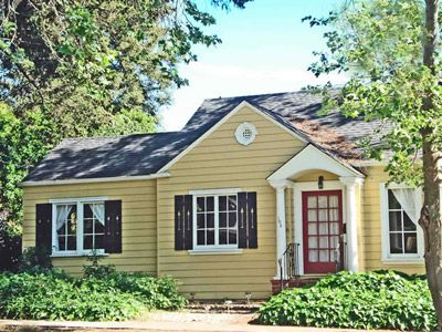 Yellow House Black Door yellow houses are the friendliest houses. | exteriors | pinterest