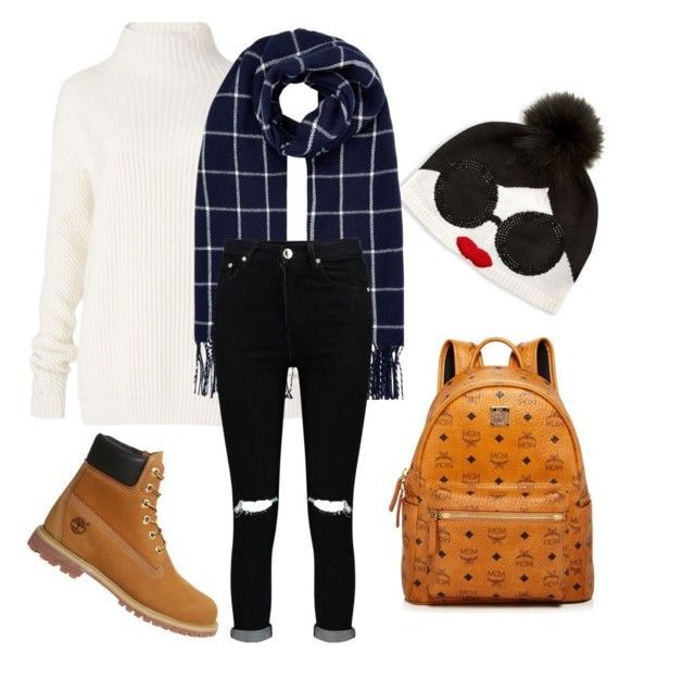 """Winter"" by janelle-savari-buizon on Polyvore featuring Diane Von Furstenberg, Timberland, Alice + Olivia, Accessorize, Boohoo and MCM"