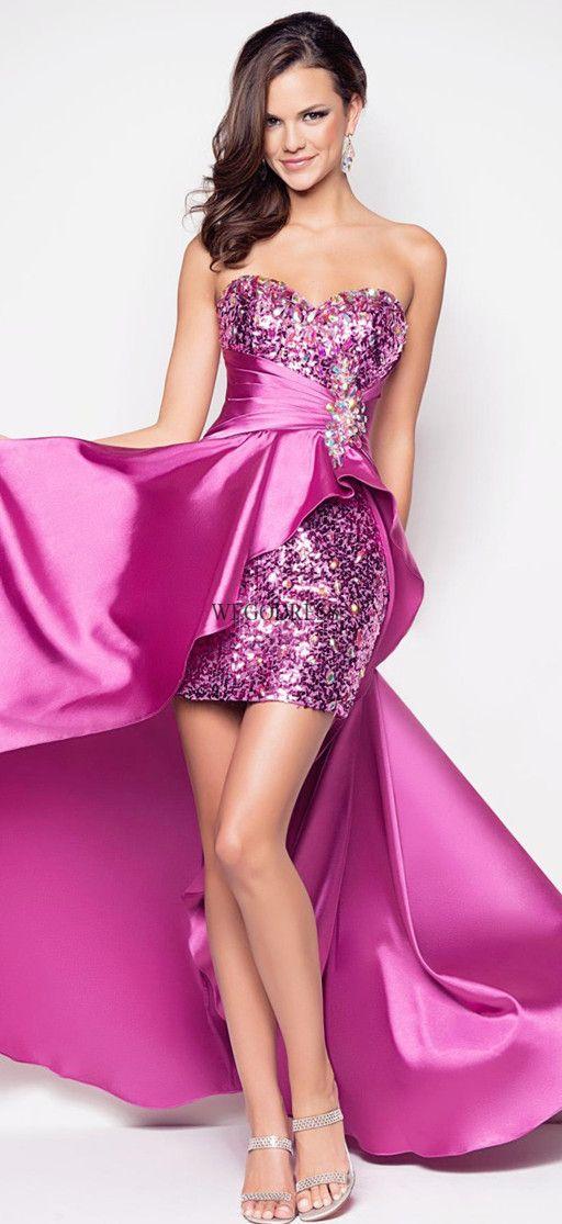 high low prom dress | Vestido largo | Pinterest | Vestiditos ...