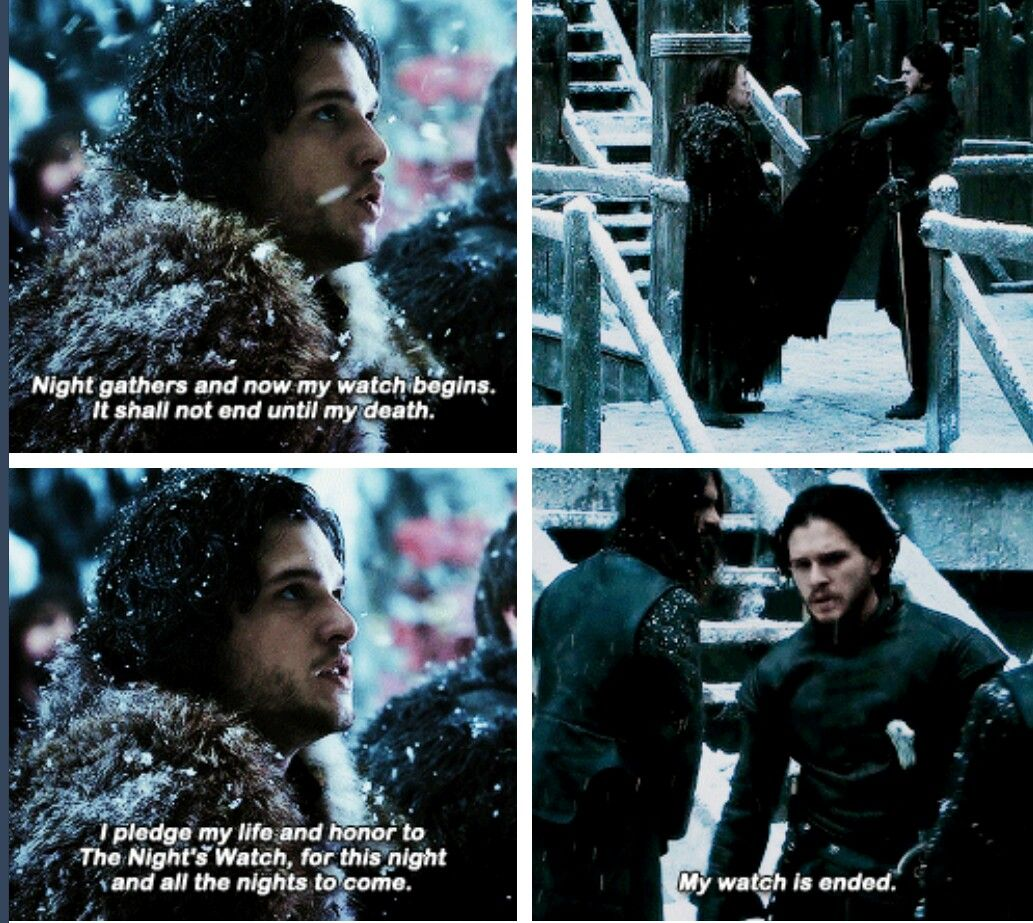 Jon Snow. His watch is ended. | Game of Thrones has ruined my life ...
