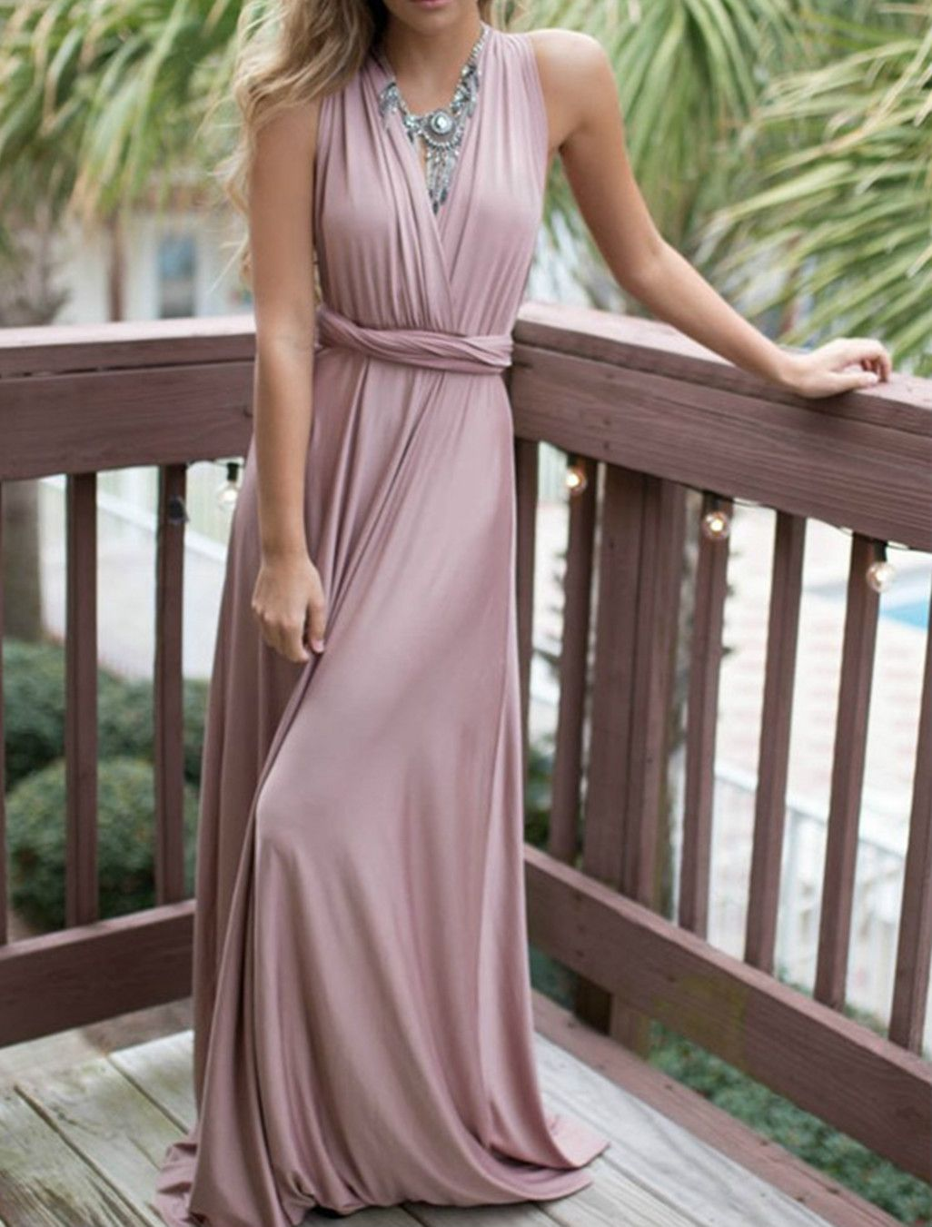 Elegant v neck sleeveless backless long prom dress prom clothes
