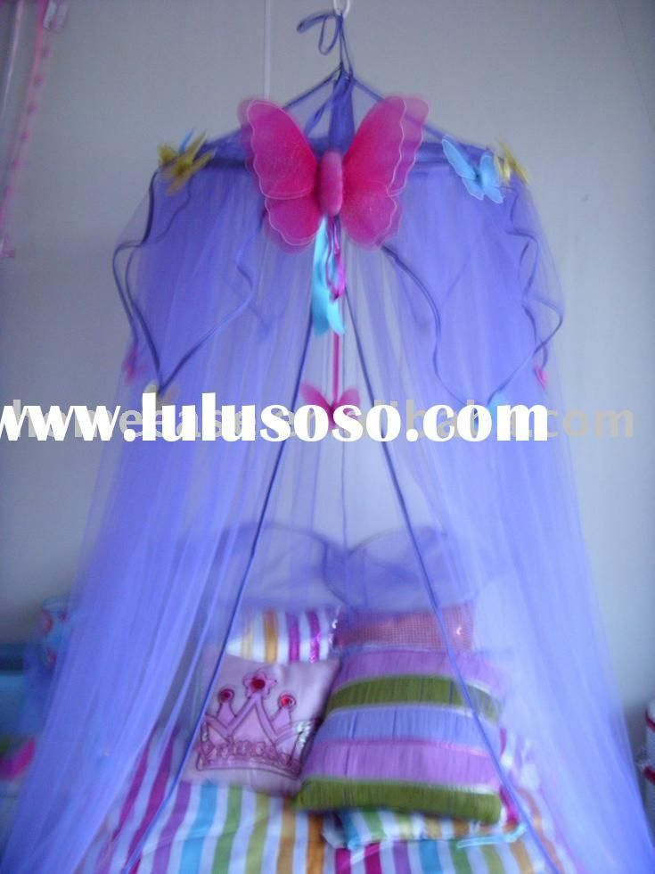 DIY Bedroom Furniture :DIY Canopy Bed : DIY Princess Mosquito Net / Kids  Butterfly Bed