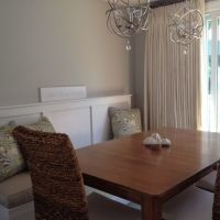 Dining Room Table With High Back Bench Banquette Feat Rattan