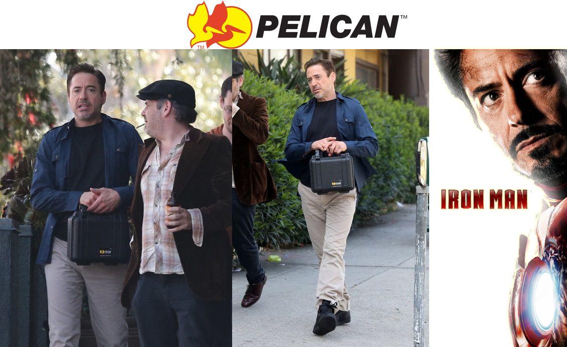 """""""Homem de ferro"""" é visto carregando uma case Pelican"""