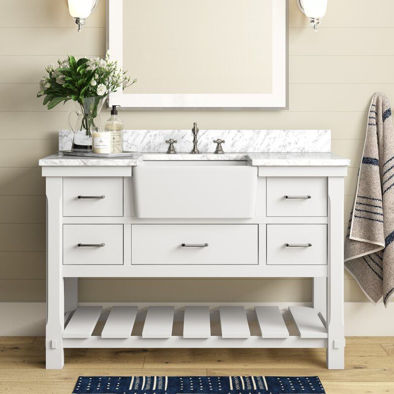 Erion 48 Single Bathroom Vanity Set Reviews Joss Main In 2020 Single Bathroom Vanity Bathroom Vanity Bathroom Sink Vanity