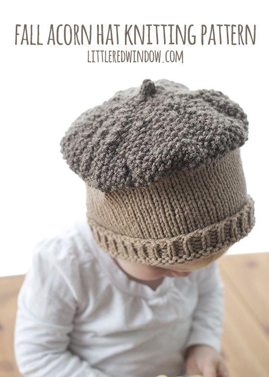 Fall Acorn Hat Knitting Pattern | Stricken für baby, Babys und Stricken