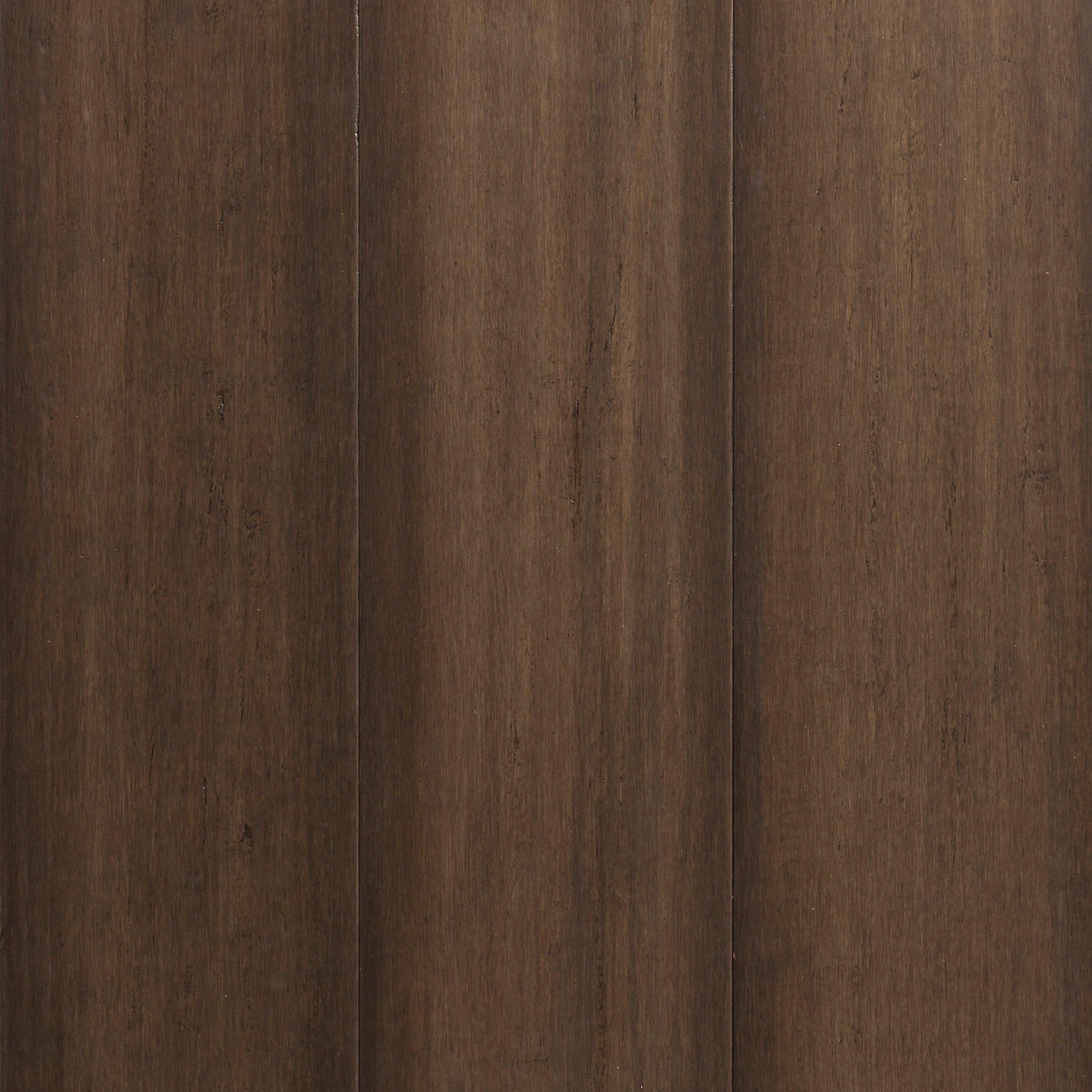 Greige Hand Scraped Locking Engineered Stranded Bamboo Flooring