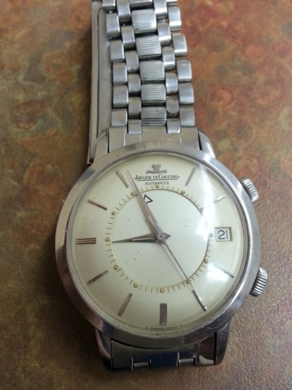 VINTAGE JAEGER LECOULTRE MEMOVOX AUTOMATIC STAINLESS STEEL