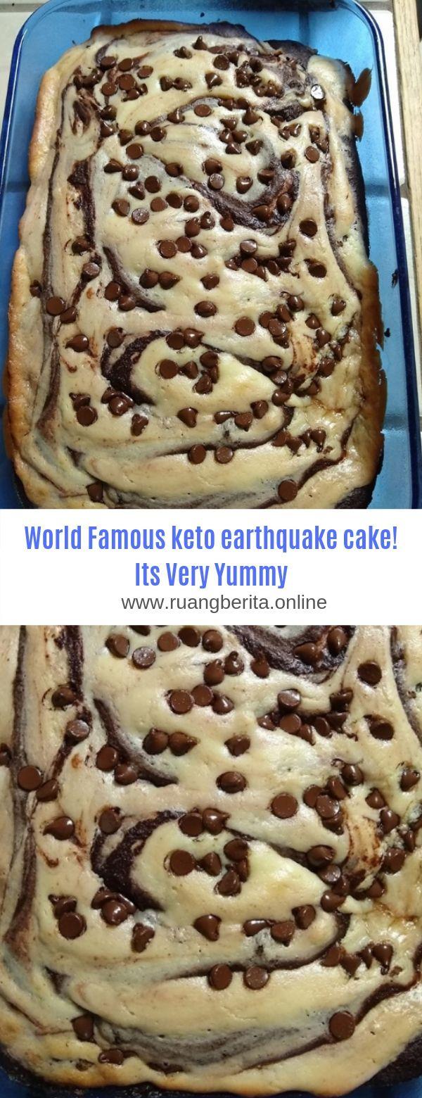 World Famous keto earthquake cake! Its Very Yummy #Dessert#Keto#Cake #ketodesserts