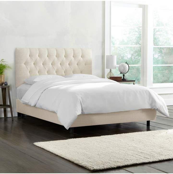 Lulu Georgia Amarise Linen Tufted Bed Talc In 2019