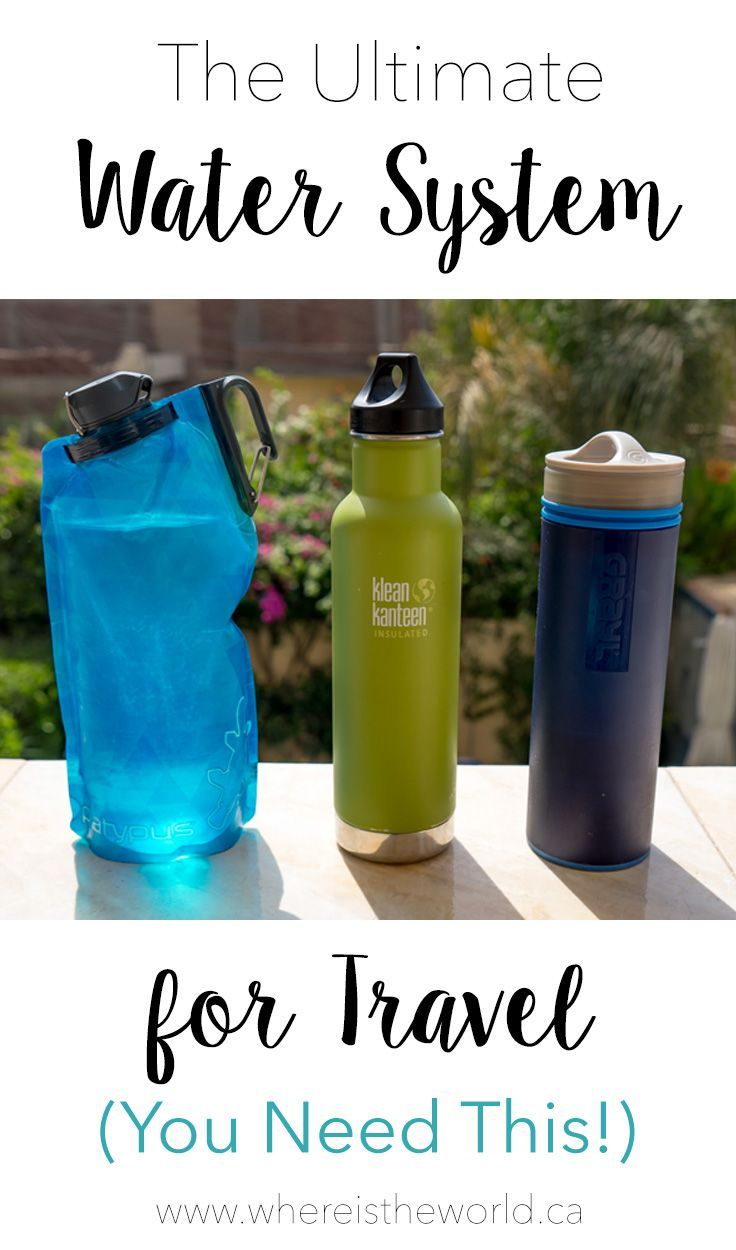 The Best Travel Water Bottle with a Filter Travel water