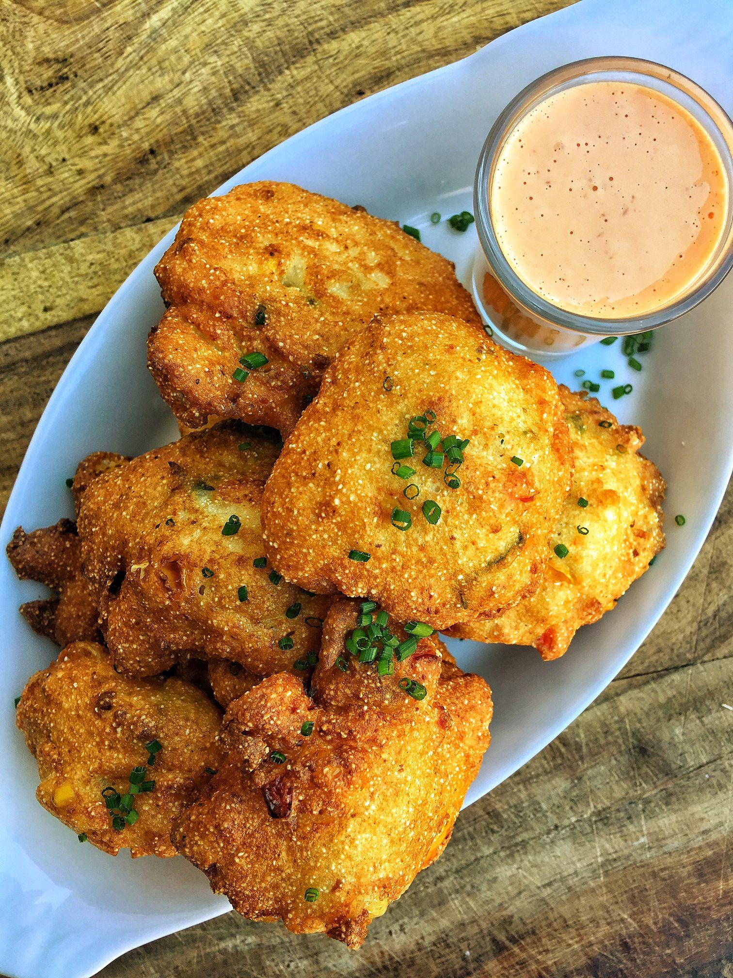 Sweet Corn Okra Hush Puppies Soul Food Food Network Recipes Thanksgiving Recipes