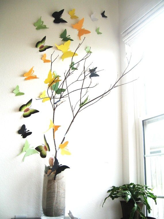 27 Amazing Diy 3d Wall Art Ideas Butterfly Wall Decor 3d Wall Art Diy Wall Decor