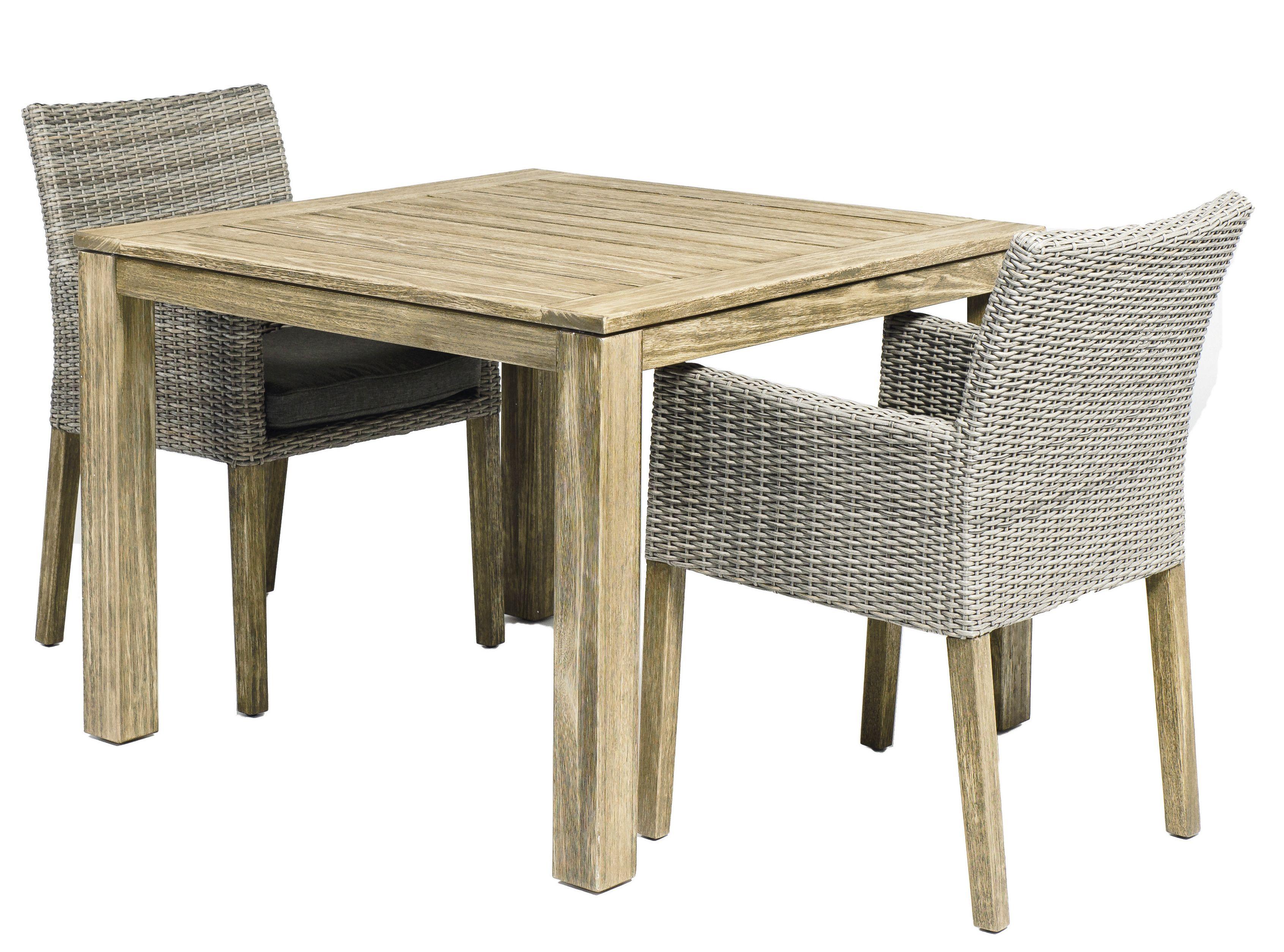 Modernes Set F R Den Gartenbereich Tisch Mit Massivem Holzrahmen