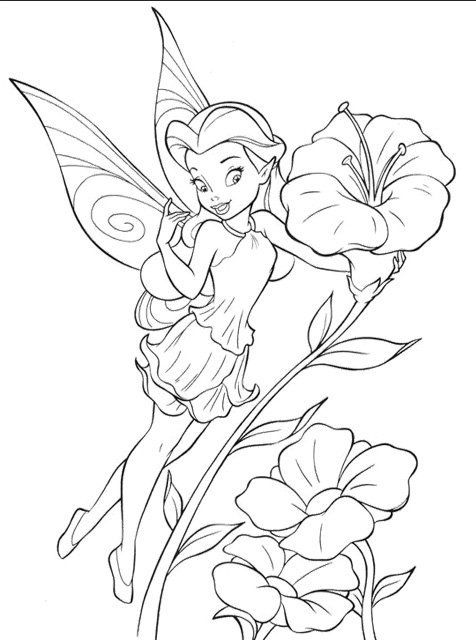 Tinkerbell Pixie Hollow Coloring Pages