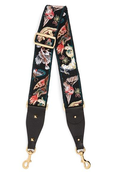 Valentino Animali Embroidered Guitar Bag Strap