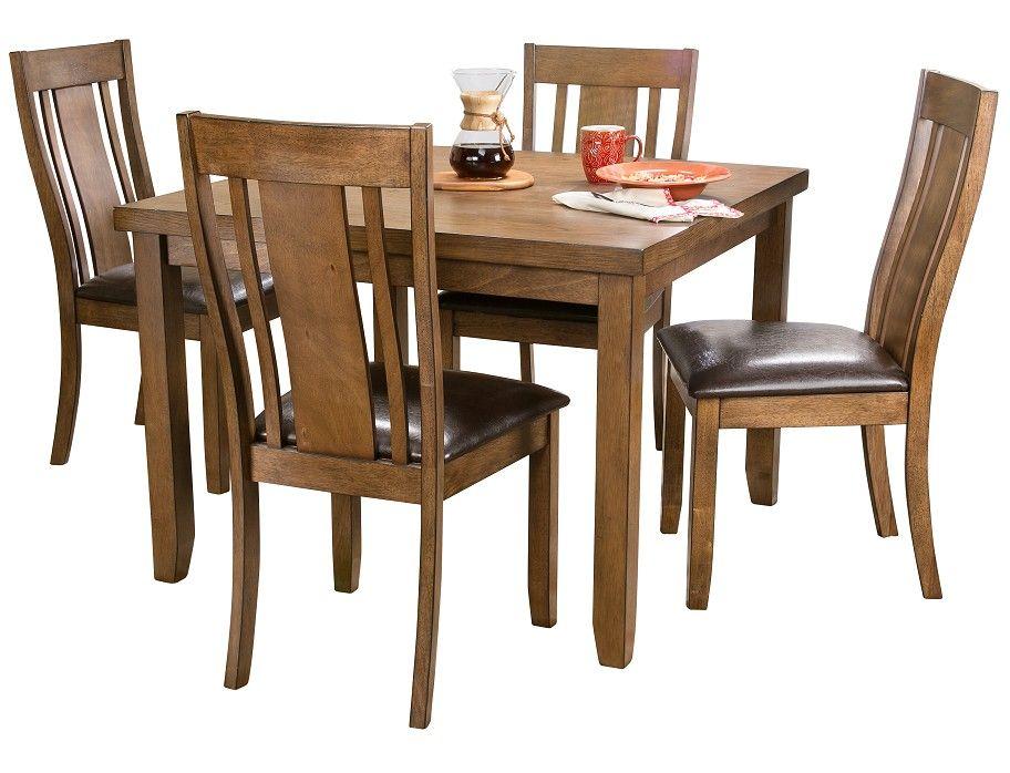 Slumberland  Tabby Collection  5Pc Oak Dining Set  The Condo Impressive Slumberland Dining Room Sets Inspiration