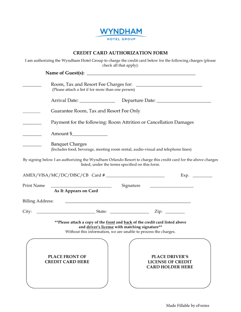 27 Credit Card Authorization Form Template Download Pdf Word