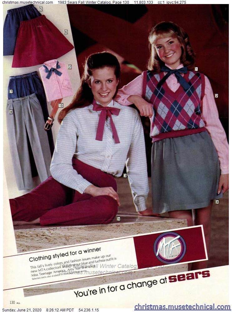 1983 Sears Fall Winter Catalog, Page 130 - Christm