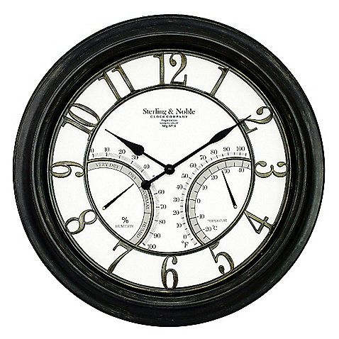 Sterling Le Large Outdoor Wall Clock This Handsomely Oversized By Is A Great Addition To Any Décor