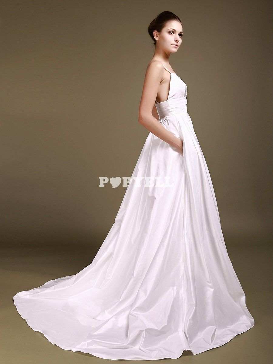 robe #mariée Robe de Soirée Mariage cache-coeur avec Corsage Perlé ...