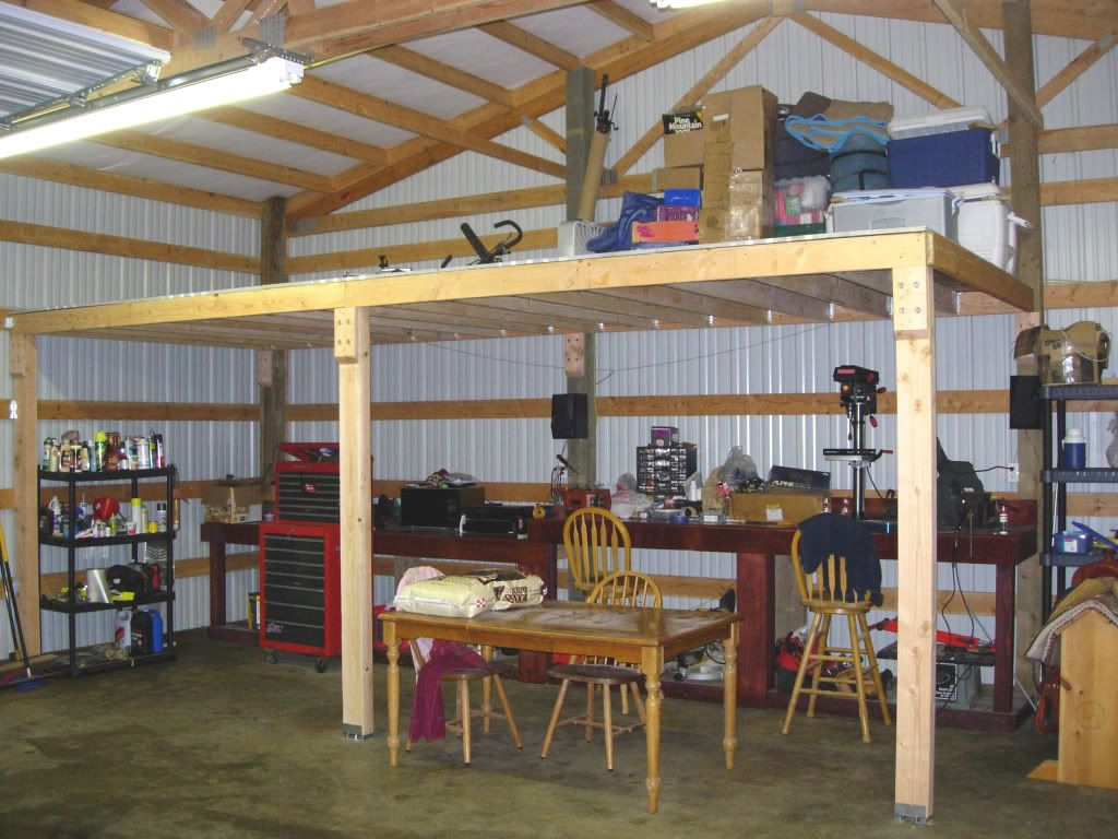 how to frame a loft loft in pole barn general discussion can am atv forums can  [ 1024 x 768 Pixel ]