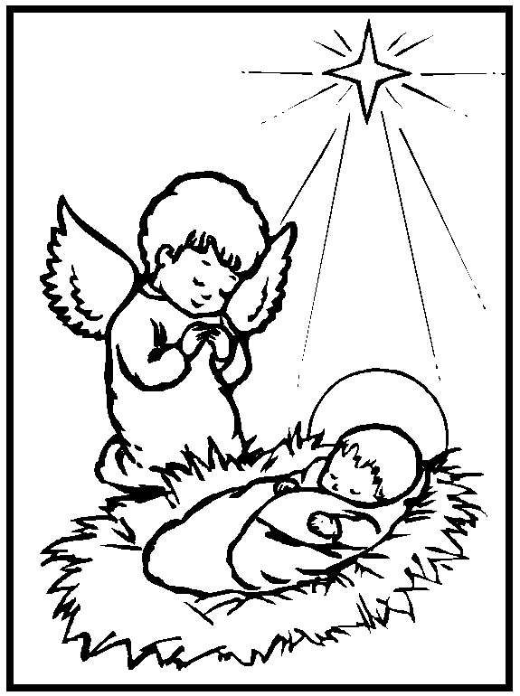 disegni da colorare di gesù bambino